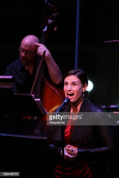 'The Songs of Tom Kitt and Brian Yorkey' at the Allen Room on Friday night March 1 2013This imageIdina Menzel