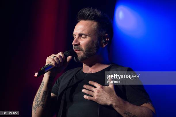 The songwriter of Sassuolo Filippo Neviani aka Nek performs in Turin Italy on May 9 2017