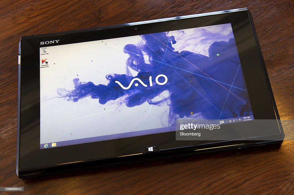 The Sony Corp. Duo 11 Ultrabook is arranged for a photograph in San Francisco, California, U.S., on Thursday, Dec. 27, 2012. Sony's Duo 11 Ultrabook runs on Microsoft Corp.'s Windows 8 operating system. Photographer: David Paul Morris/Bloomberg via Getty Images