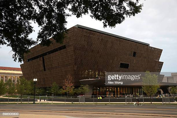 The soontobeopened Smithsonian National Museum of African American History and Culture is seen September 1 2016 in Washingotn DC The museum was...