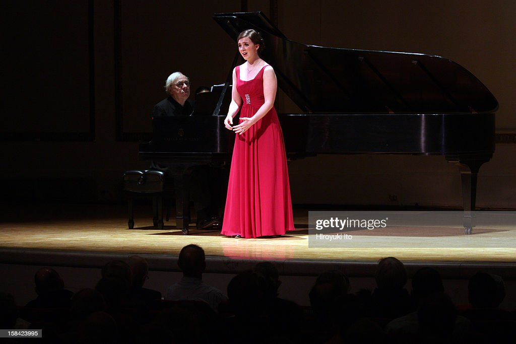 The soprano Sarah Shafer and the pianist Richard Goode performing the music of Schubert, Brahms and Mahler at Town Hall on Sunday afternoon, December 9, 2012.