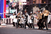The Soul Tigers Marching Band plays at Nike Brings Broadway Bowl Football Matchup To The Heart Of Times Square on April 27 2012 in New York City