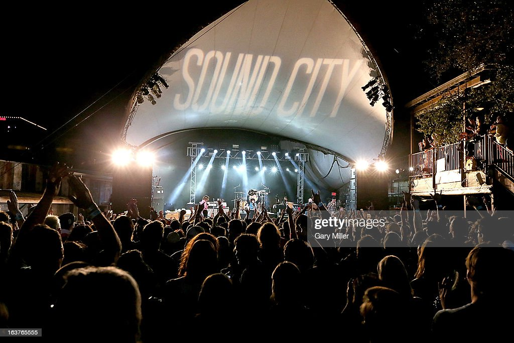 The Sound City players perform in concert at the Sound City showcase at Stubbs BBQ during the South By Southwest Music Festival on March 14, 2013 in Austin, Texas.