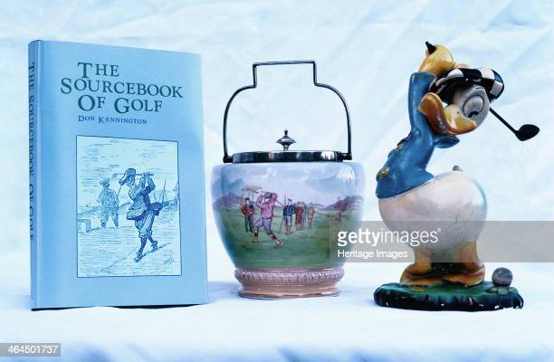 The Sourcebook of Golf ornamental ware Donald Duck figure 193081 The Sourcebook of Golf by Don Kennington 1981 Ornamental porcelainware c1920s...