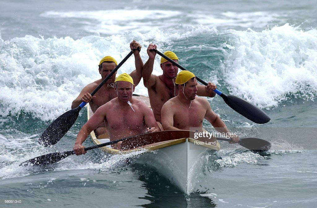 The South Brighton canoe crew of Rowan McNaughton Scott McAlister Simon Stewart and Lee Barker cruise to victory in the st semi final of the open...