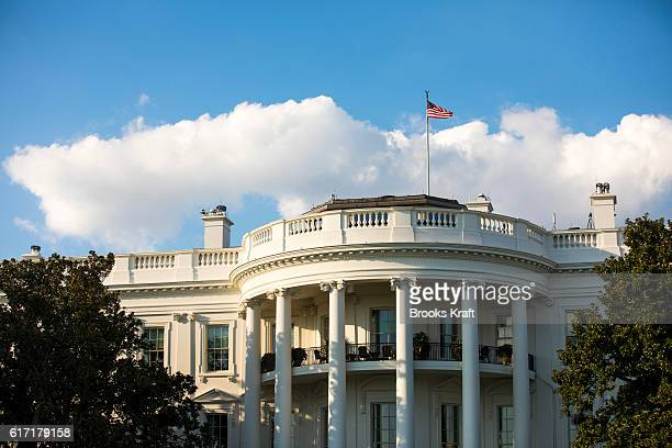 The south facade of the White House including the Truman Balcony October 3 2016 in Washington DC