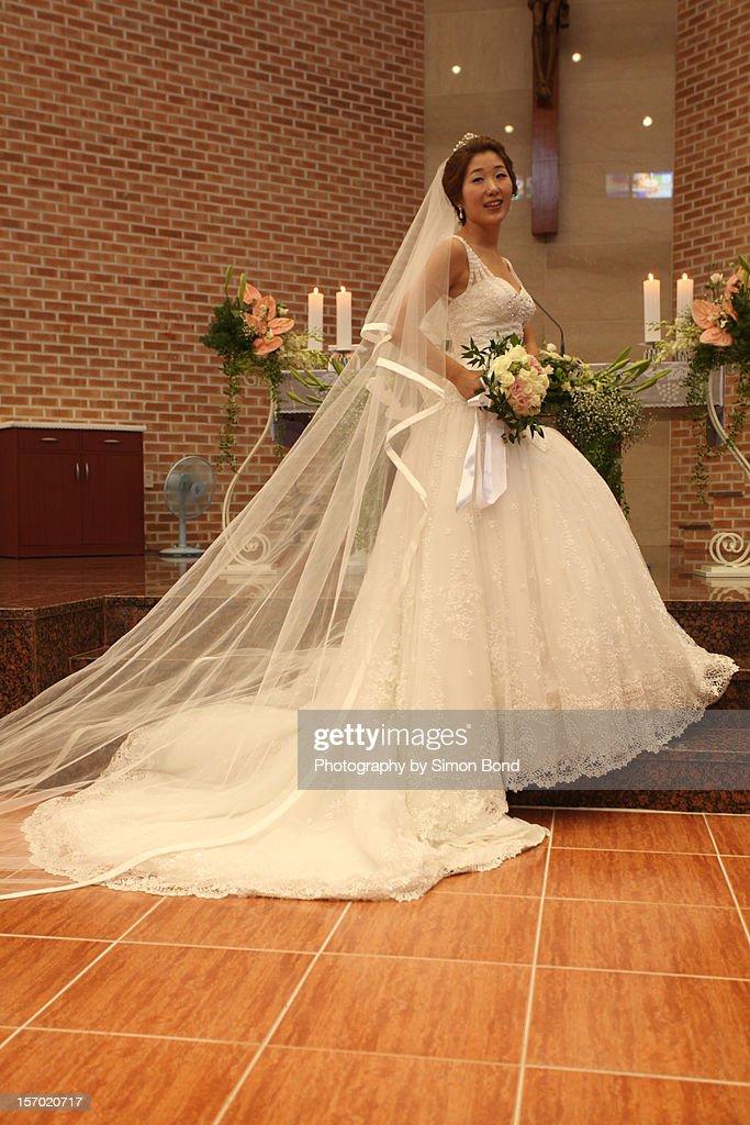 The South Korean bride : Stock Photo