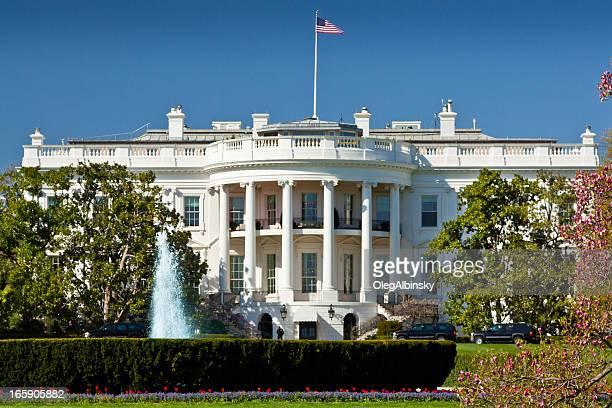 The South Portico of the White House. Washington DC, USA.