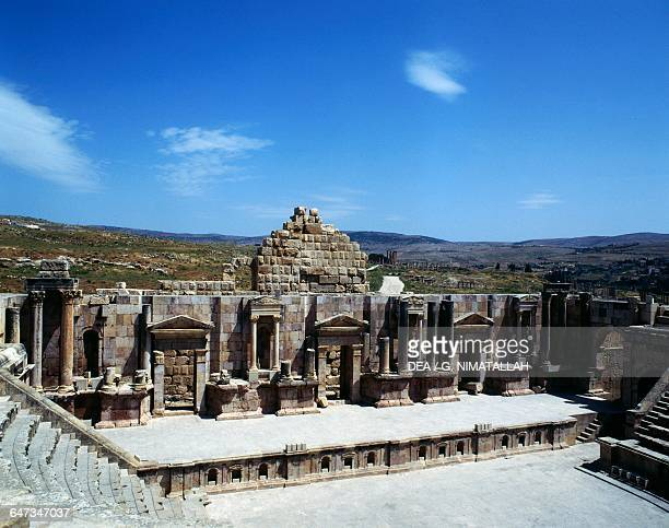 The South theatre 8196 AD Jerash Jordan Roman civilisation 1st century AD