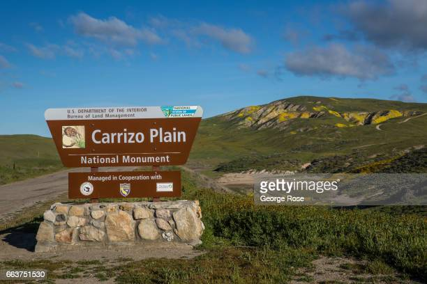 The southern entrance to Carrizo Plain home to thousands of migratory birds and the largest alkali wetlands in the state is viewed on March 28 in...