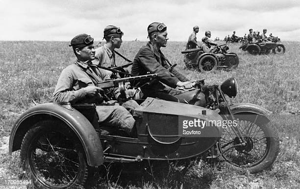 The southern front soviet motorcyclists prior to attack july 1942