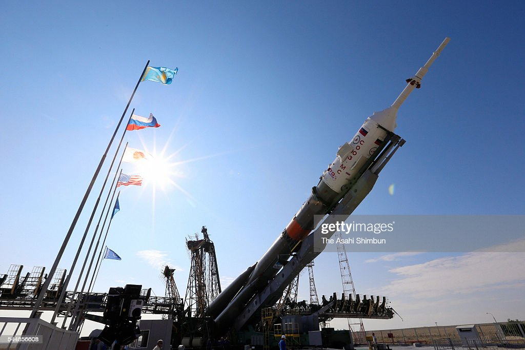 The rocket with astronauts launched at Baikonur. Photos from the scene 26