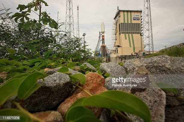 The Soyuz STA on lunch zone during the 'Dry Run' simulation of Soyuz first flightin the new Russian Soyuz launch complex at the Guiana Space Center...