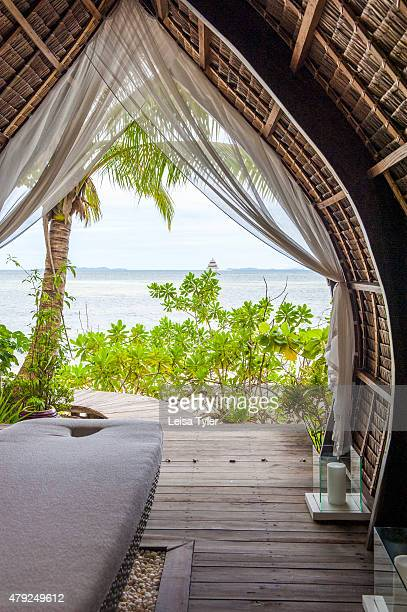 The spa at Dedon Island resort the 'outdoor lab' of Dedon furniture a line of highend outdoor furniture made from recycled plastic owned by Bobby...