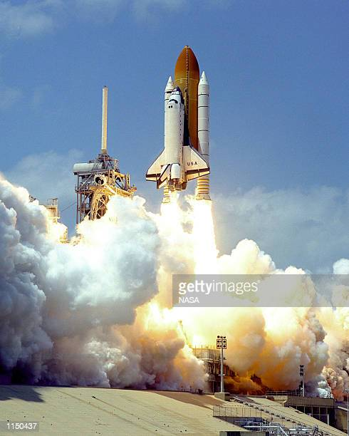 CENTER FLA The Space Shuttle Columbia soars from Launch Pad 39B at 219 pm EDT Apr 17 1998 beginning the nearly 17day STS90 Neurolab mission The...