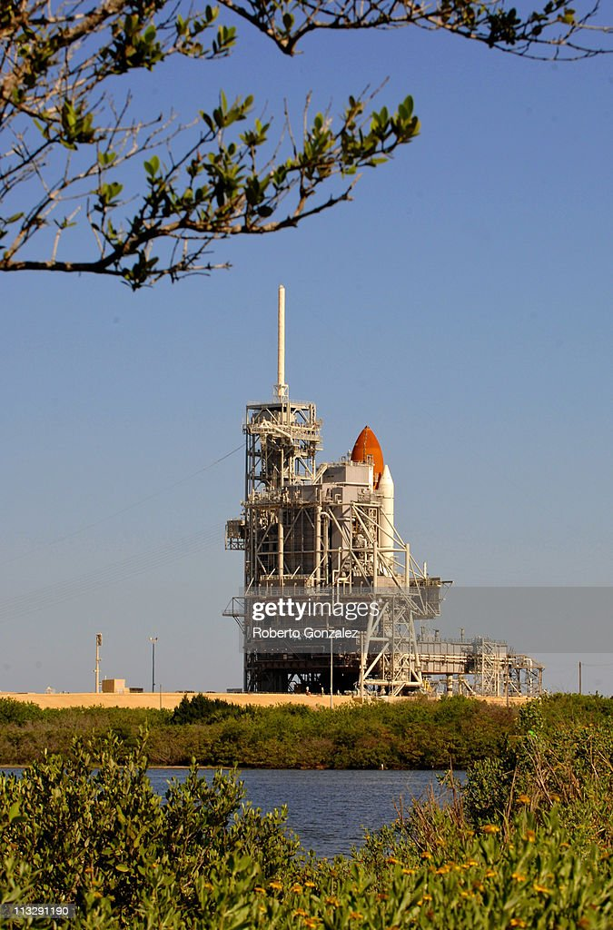 The Space Shuttle Endeavour is covered by the gantry as it sits on the launch pad at the John F. Kennedy Space Center April 30, 2011 in Cape Canaveral, Florida. NASA put the launch of the Space Shuttle Endeavour off until at least May 2, as repair efforts are underway for a thermostat malfunction on Space Shuttle Endeavour, which caused a scrub of yesterday's launch attempt. This will be Endeavour's final trip to the International Space Station.