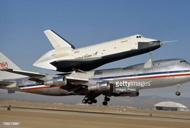 The Space Shuttle Enterprise circa 1977