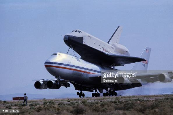 The Space Shuttle Enterprise was a prototype developed for testing purposes throughout 1977 This was the mockup's second manned captive test flight...