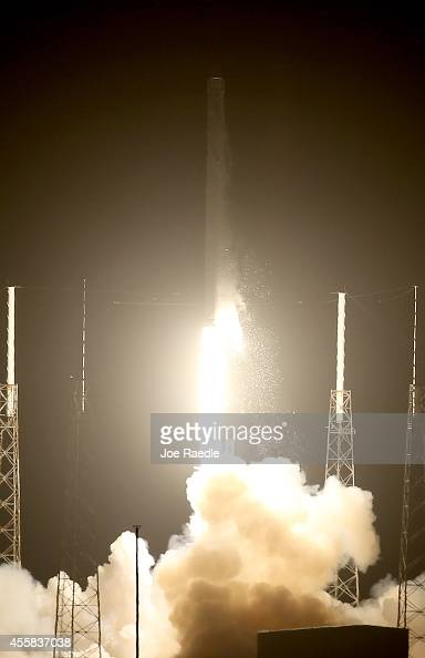 The SpaceX Falcon 9 rocket carrying a Dragon supply ship lifts off from the launch pad on a resupply mission to the International Space Station on...