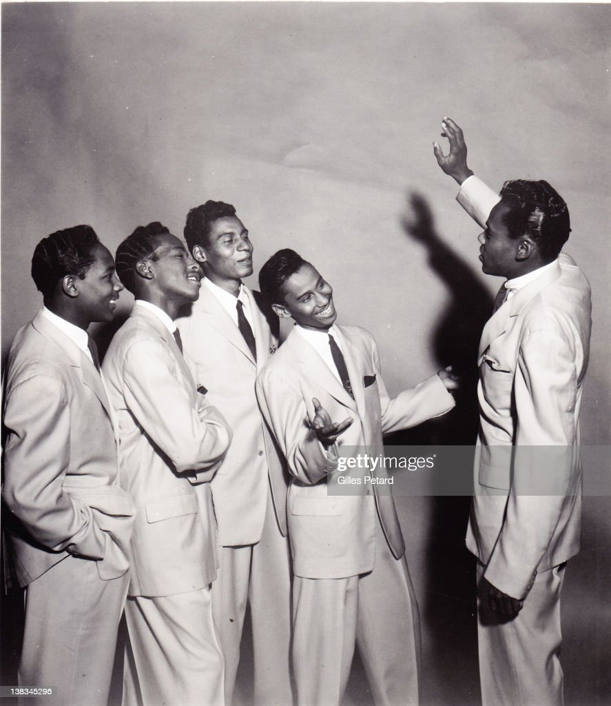 The Spaniels group portrait studio USA 1956