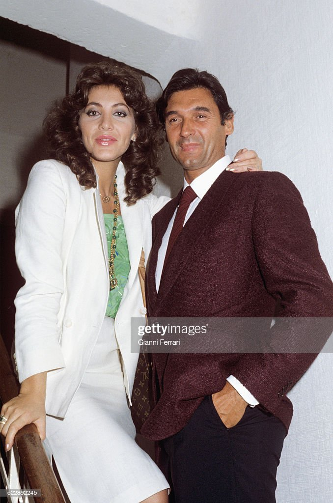 The Spanish actress and singer Norma Duval with her husband Marc Ostarcevic Madrid Spain