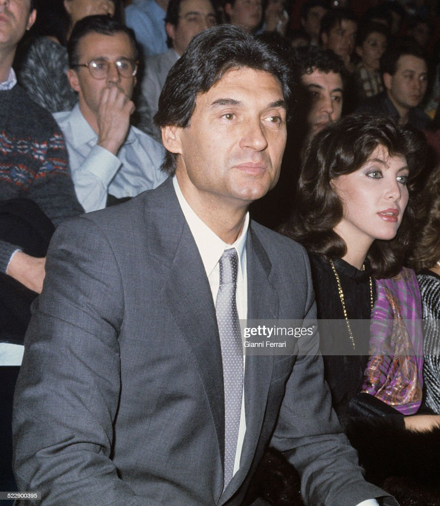 The Spanish actress and singer Norma Duval with her husband Marc Ostarcevic 30th Januay 1985 Madrid Spain