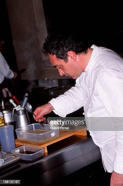 The spanish cook Ferran Adria in his famous restaurant 'El Bulli' Cala Montjoy Figueras Spain