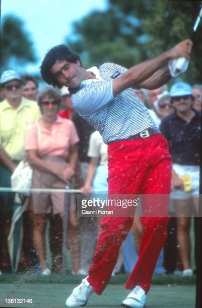 The Spanish golfer Severiano Ballesteros executing a swing Costa del Sol Malaga Spain