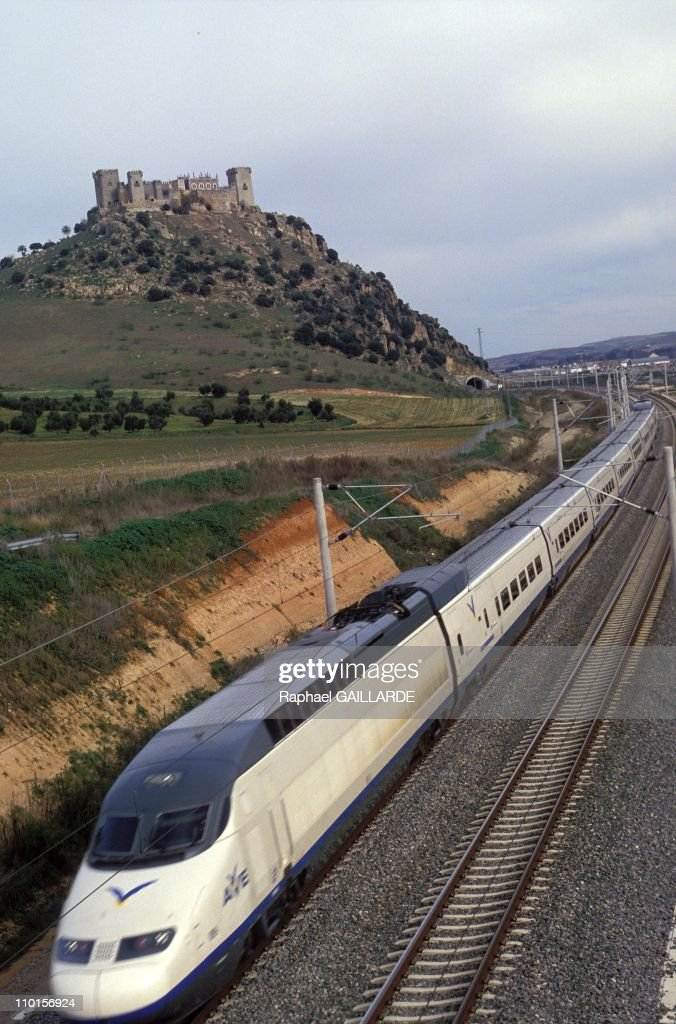 The Spanish highspeed train 'AVE' between Sevilla and Madrid in Spain on January 22 1994