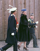 The Spanish King Juan Carlos and the Danish Queen Margareth II go to the Town Hall 18th March 1980 Copenhagen Denmark