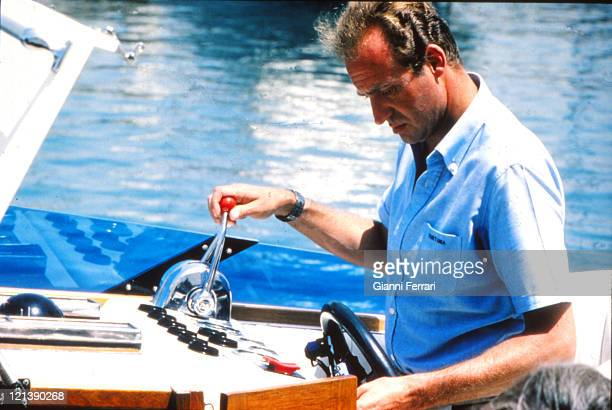 The Spanish King Juan Carlos of Borbon on holiday in the Balearic Islands 12th August 1979 Palma de Mallorca Spain