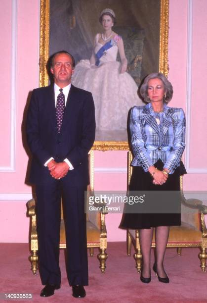 The Spanish Kings Juan Carlos and Sofia during their visit to New Zealand 20th June 1988 Wellington New Zealand