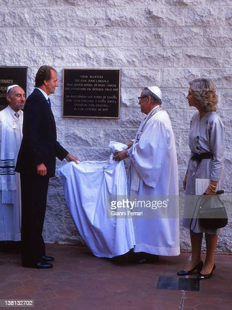 The Spanish Kings Juan Carlos and Sofia visited in Los Angeles a synagogue' Los Angeles
