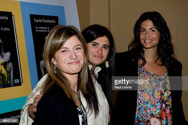 The Spanish Minister for Equality Bibiana Aido writer Lucia Etxebarria and television presenter Nuria Roca pose at the presentation of the latest...