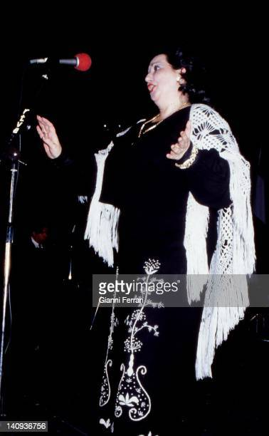 The Spanish opera singer Montserrat Caballe in a concert Barcelona Spain