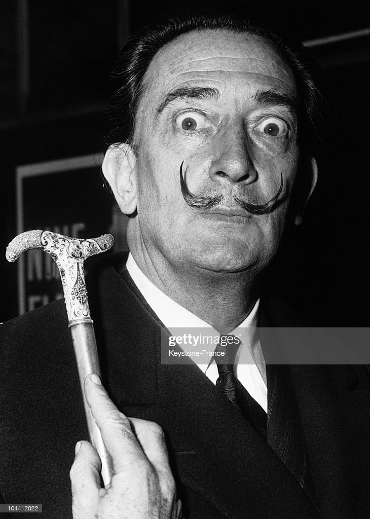 The Spanish painter illustrator and writer Salvador DALI arrived at Victoria Station London He was to attend a party given by the publishers of the...