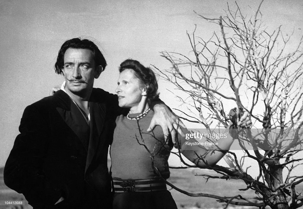 The Spanish painter Salvador DALI and his wife Gala