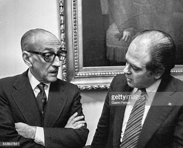 The Spanish politician Jordi Pujol and Manuel Gutierrez Mellado Madrid Spain