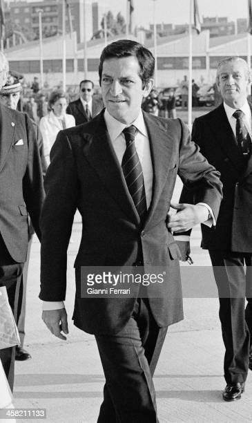 The Spanish President Adolfo Suarez at Barajas airport 24th June 1979 Madrid Spain