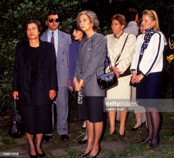 The Spanish Queen Sofia and Blaga Dimitrova wife of the Vice President Bulgarian visiting various churches during the official trip of the Spanish...