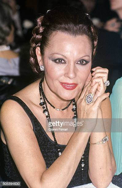 The Spanish singer and actress Paquita Rico Madrid Spain