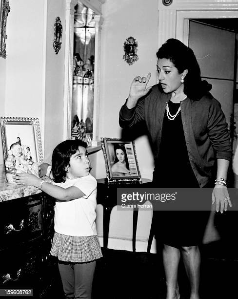 The Spanish singer and dancer Lola Flores with her daughter Lolita Madrid Castilla La Mancha Spain