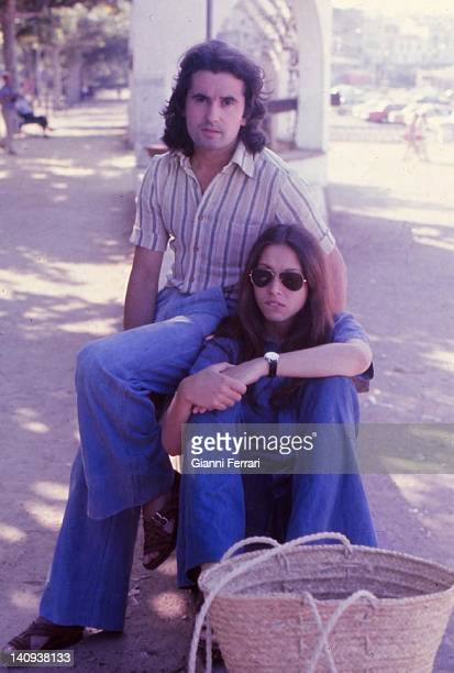 The spanish singer and sonwriterr Victor Manuel with his wife the singer Ana Belen Madrid Spain