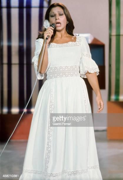 The Spanish singer Lolita daughter of Lola Flores during a concert Madrid Castilla La Mancha Spain
