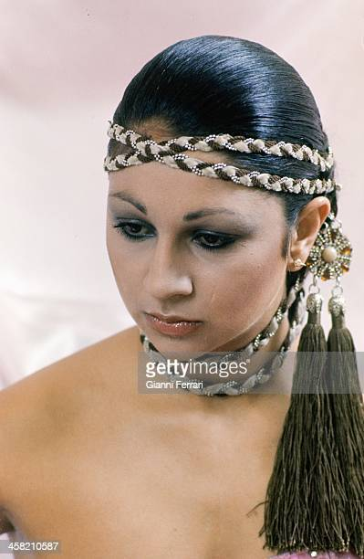 The Spanish singer Lolita daughter of Lola Flores during a photo shoot 15th March 1978 Madrid Castilla La Mancha Spain