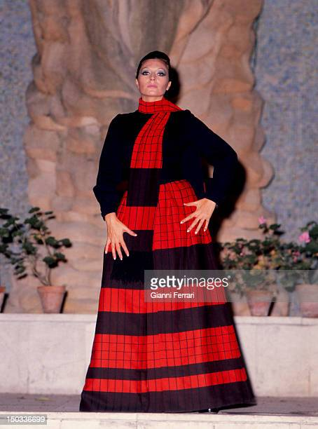 The Spanish singer Rocio Jurado in a photo shoot 30th December 1973 Madrid Spain