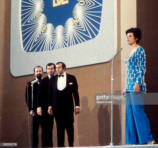 The Spanish singer Salome won the Festival Song of Eurovision with the song 'Vivo cantando' 29th March 1969 Madrid Spain