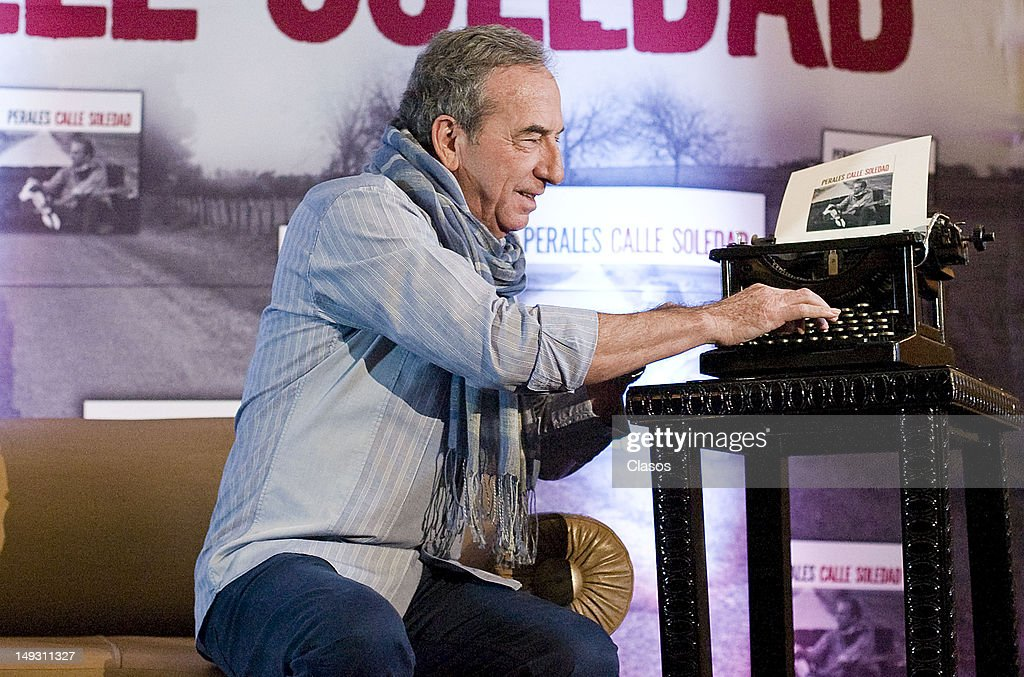 The Spanish songwriter José Luis Perales presents his new album, Soledad Street, on july 26, 2012 in Mexico City, Mexico.