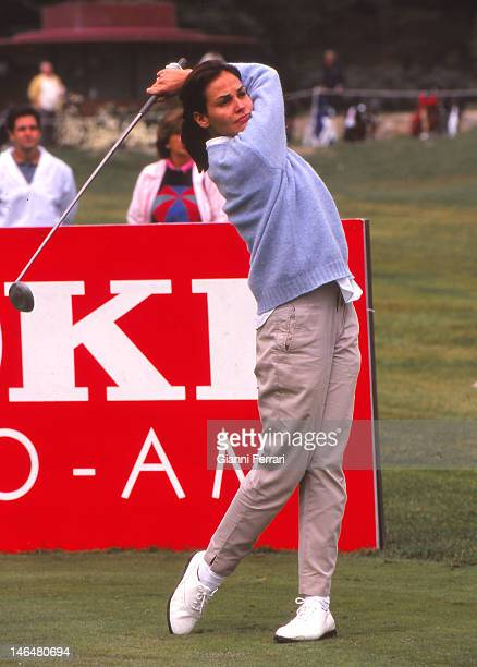 The Spanish top model and actress Ines Sastre who began his career by winning at 16 years the contest 'Look of the Year' playing golf Madrid Spain