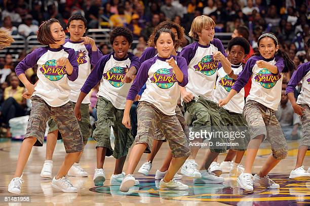 The SparKids perform during the game between the Phoenix Mercury and the Los Angeles Sparks on June 6 2008 at Staples Center in Los Angeles...